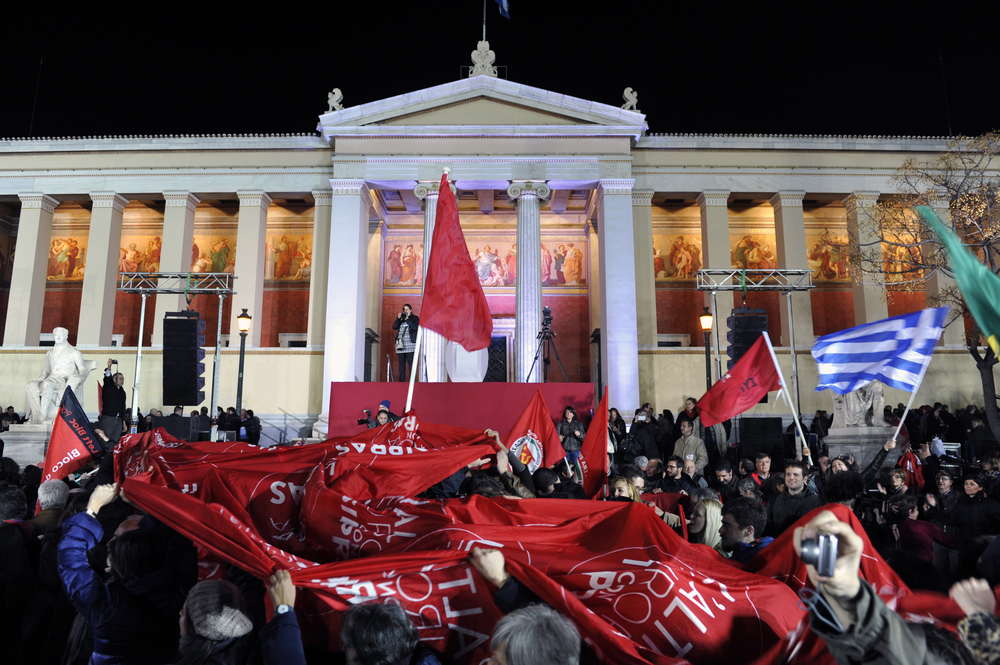 tsipras supporters