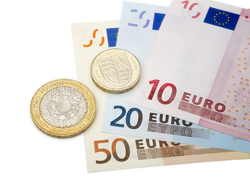 euro currency bancnotes coins
