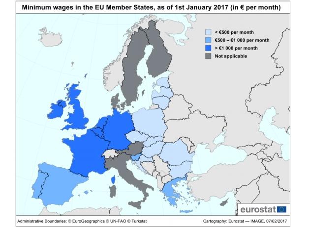 salarii minime pe economie ue