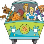 scooby doo in the car with the team cartoon image