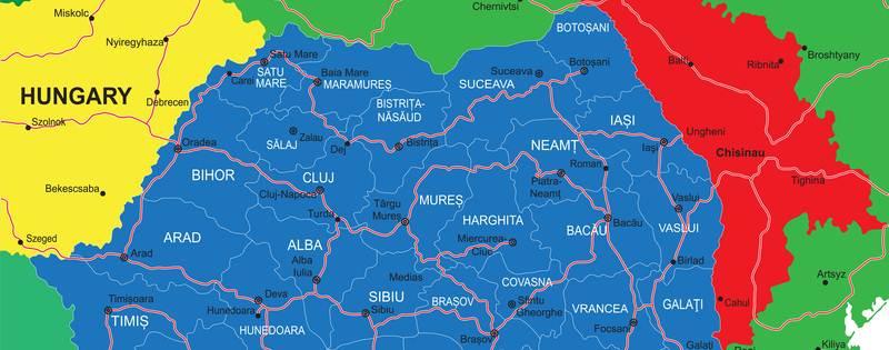 hungary, romania, moldova map