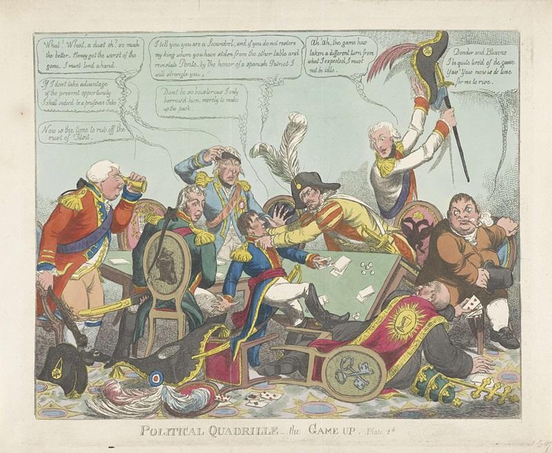 Politiek quadrille, 1808, Charles Williams, 1808